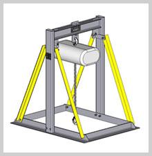 Chain Hoist Grid Stand - Stage Equipment Houston