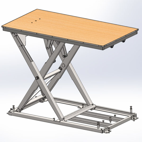 Elevated Desk Stage Equipment Houston